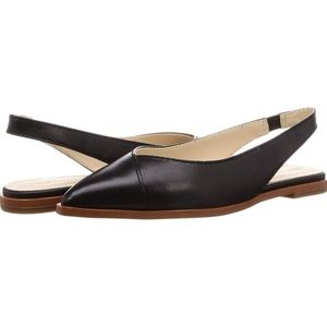 Cole Haan Black Leather Slingback Shoes Size 7